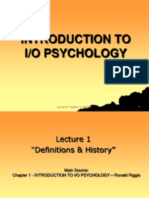 I O Psychology 1 9 Notes Performance Appraisal Industrial And Organizational Psychology