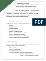 Grupal Protocolo Prueba Informal de Lectoescritura