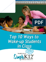 10 Ways to Wake Up Your Students