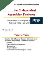 Assembler features