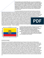 La Bandera Del Ecuador Consiste en Bandas Horizontales de Color Amarillo
