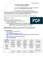 liver letter or resume assignment