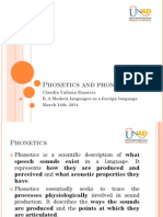 Phonetics and Phonology March 14