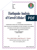 Earthquake Analysis of Curved Cellular Bridges
