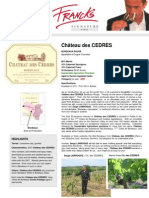 Des Cedres Fact Sheet