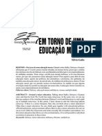 [SÍLVIO GALLO] Em torno de uma educação menor