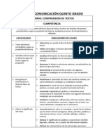 RUTAS DE APRENDIZAJE 2014 5º - COMUNICACION