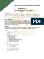 Temario Elaboracion de Hojas de Calculo Con EXCEL Intermedio-2010