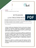 EKAI Center en NAIZ. Kutxabank. 3000 MILLONES DE EUROS