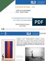 Maria Estelrich La Desmaterializacion Del Arte