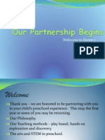 preschool orientation - our partnership begins