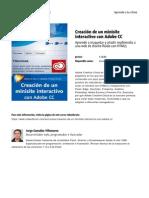Creacion de Un Minisite Interactivo Con Adobe Cc