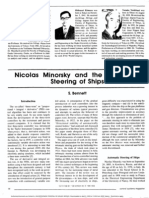 Nicolas Minorsky and the Automatic Steering of Ships -- S. Bennett