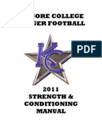 Strength Conditioning Manual KILGORE COLLEGE Football 2011
