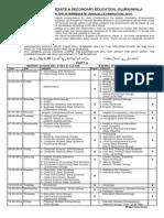 BISE Gujranwala Date Sheet Inter Annual 2014