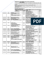 BISE Faisalabad Date Sheet Inter Annual 2014