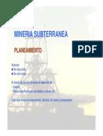 Minería subterránea-planeamiento