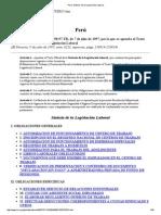 Perú Sintesis legislacion laboral