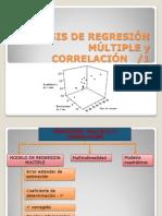 ANÁLISIS DE CORRELACIÓN  Y REGRESIÓN MÚLTIPLE