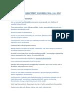 Employment Discrimination 2012