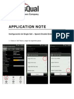 APPLICATION NOTE - Android Qualipoc - Configuración Single Call - Speech Double Ended