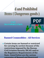 Courier Industry Banned Goods