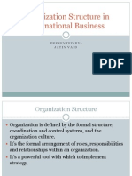 organization structure in international business