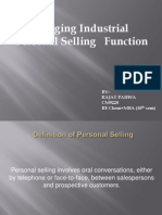 Managing Industrial Personal Selling Function