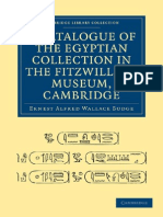 [Ernest Alfred Wallace Budge] a Catalogue of The