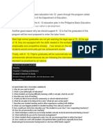 K 12 Education Plan