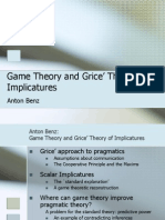 Game Theory and Grice Theory of Implicatures 1225345997032256 9