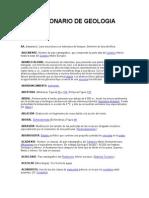Diccionario de Geologia