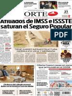 Periódico Norte de Ciudad Juárez edición impresa del 21 abril del 2014