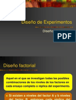 Diseño de Experimentos - Diseño Factorial