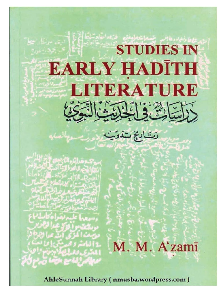 Stu S In Early Hadith Literature Hadith