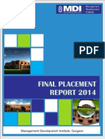 Final Placement Report 2014