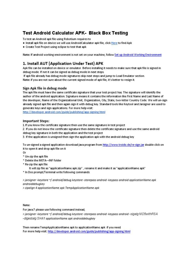 TestAndroidCalculatorAPK-BlackBoxTesting-V2_0 | Eclipse