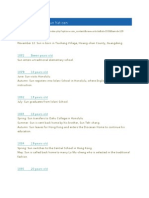 Chronology of Dr Sun Yat-Sen
