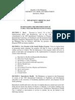 Department Order 56-03 (FWP)