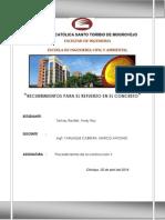 Recubrimientos Para El Refuerzo en El Concreto - Tamay