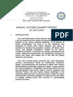 Accomplishment Report 2013 Intro