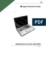 """Apple Technician Manual - Macbook Pro 15"""" - Mid 2010"""