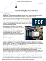 Advances in Electronic Control of Hydraulic Servo Systems