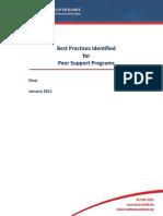 best practices identified for peer support programs jan 2011 2013 11 07 21 41 31 utc