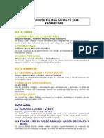 Listado Propuestas Campamento Digital Santa Fe