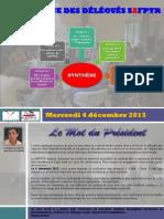 Synthèse Conférence  des Délégués du 04 décembre 2013