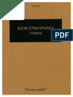 Threni - Id Est Lamentationes Jeremiae Prophetae by Stravinsky, Igor