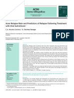 Acne Relapse Rate and Predictors of Relapse Following Treatment With Oral Isotretinoin
