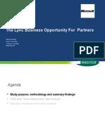 Session_2_Lync Partner Economic Opportunity Forrester Study - Copy