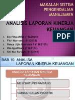 Analisis Kinerja Laporan Keuangan2